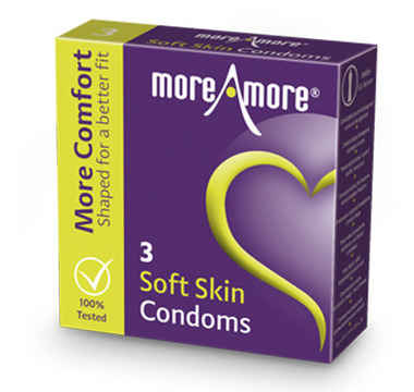 Náhled produktu MoreAmore - Condom Soft Skin 3 ks - latexové kondomy